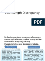 Arch Length Discrepancy