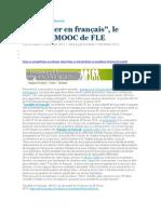 Article Mooc Travailler en Francais