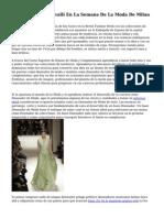 Gucci, Ferreti Y Cavalli En La Semana De La Moda De Milan