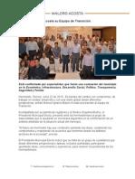 22-06-15 Presenta Maloro Acosta su Equipo de Transición