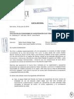 Carta enviada por Kaloti a OjoPúblico