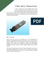 Pluggable Fiber Optic Transceivers
