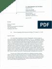 DOJ letter to FCC re