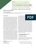 Analisis Critico  Pronostico