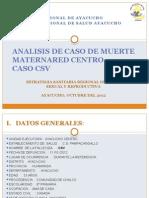 Analisis de Caso de Muerte Materna Pamppacangallo