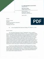 DOJ Spectrum Auction Letter