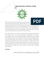 Bacaan Shalat Berdasarkan Putusan Tarjih Muhammadiyah