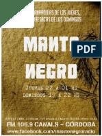 Manto Negro afiche Junio 2015