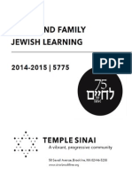 Temple Sinai Brookline 2014-2015 Adult Learning Catalog v9a