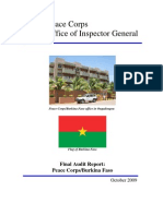 Peace Corps Burkina Faso Final Audit Report Inspector General  IG1001A 2010  FY 2010