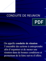 Conduite de Réunion