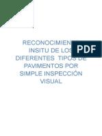 Reconocimiento Insitu de Los Diferentes Tipos de Pavimentos Por Inspección Visual