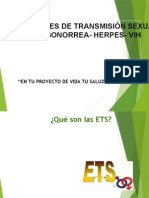 ETS SÍFILIS, VIH, GONORREA Y HERPES CUIDADOS DE ENFERMERIA
