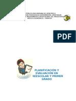 Concepto de Planificación y Evaluación en Preescolar y Primer Grado