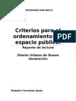 Criterios Para El Ordenamiento Del Espacio Público