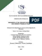 DESARROLLO DE CERVEZA ARTESANAL