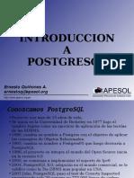 Introduccion a Postgresql