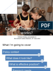 Career Education - What Works?