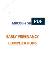 (SAMPLE) 1- Early Pregnancy (SBA)