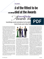 InvestHedge Fund of Hedge Funds Awards Nominations