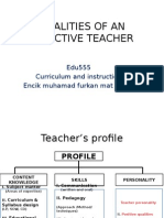 edu555 week 1 qualities of an effective teacher