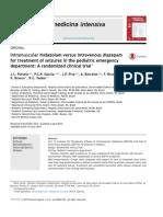 Intramuscular Midazolam Versus Intravenous Diazepam