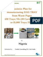 EGG TRAYS PROJECT Report for 24000 Pcs Final | Paper | Pulp