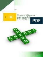 Ecotech Alliance - Quick Guide to Bioenergy Technologies