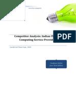 Competitor Analysis Indian IT Cloud Computing Analysis