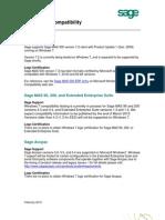 Sage MAS90, MAS200, MAS500, Accpac Windows 7 Compatibility Announcement