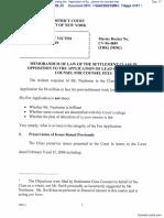 In Re Holocaust Victim Assets Litigation regarding the   Application of Burt Neuborne for counsel fees - Document No. 17