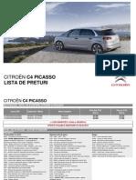 Citroen C4 PICASSO Lista de Preturi 05 20151