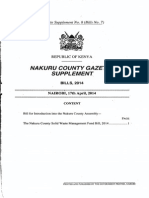 Nakuru County Solid Waste Management Fund Bill 2014