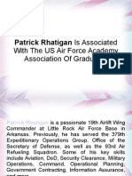 Patrick Rhatigan Is Associated With The US Air Force Academy Association Of Graduates