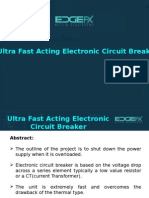 Ultra Fast Acting Electronic Circuit Breaker
