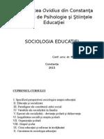 Curs Sociologia Educatiei 2014 Marica