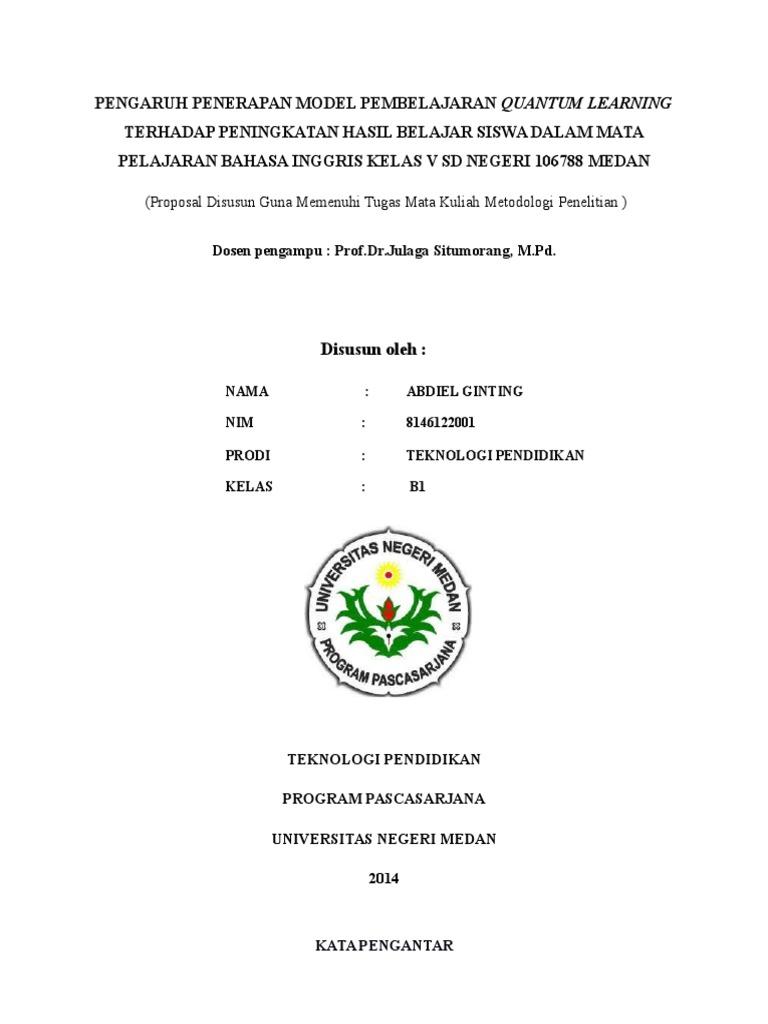 Dokumen Serupa Dengan Cover Proposal Penelitian