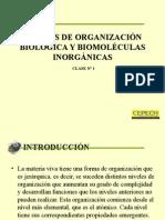Biomoleculas y Niveles de Organizacion Biologia
