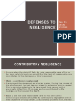 defences to negligence