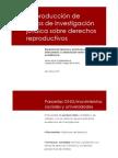 La Producción de Datos de Investigación Jurídica Sobre Derechos Reproductivos. - Ana Paula Sciammarella