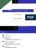 Kolmogorov complexity