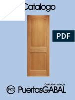 "Catálogo Puertas Marca ""GABAL"""