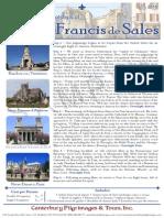St. Francis De Sales Pilgrimage | Canterbury Pilgrimages