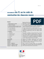 Couts Construction Chaussees