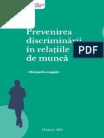 Prevenirea discriminării în relațiile de muncă