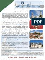 Pilgrimage to Fatima   Canterbury Pilgrimages