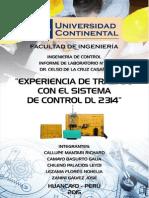 Experiencia de Trabajo con el Sistema de Control DL 2314