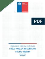 Propuesta de Políticas de Suelo Para Integración Social (CNDU, 2015) - Doc. Final