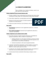 Criterios de Diagnosticos de Transtornos Alimenticios