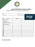 Formulario de Solicitud de Insumos de Los Puestos Fijos de Vacunación (PAI)